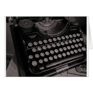 Vintage Schreibmaschine B&W Karte