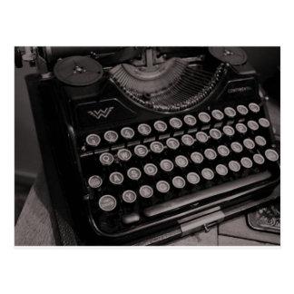 Vintage Schreibmaschine B&W Postkarte