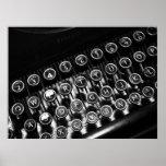 Vintage Schreibmaschine Plakat