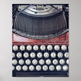 Vintage Schreibmaschine Poster