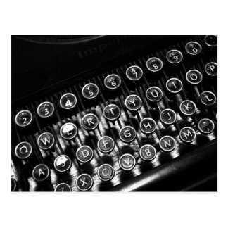 Vintage Schreibmaschine Postkarten