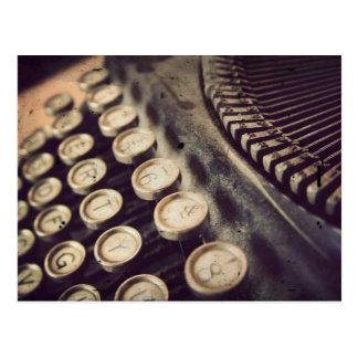 Vintage Schreibmaschine Postkarte