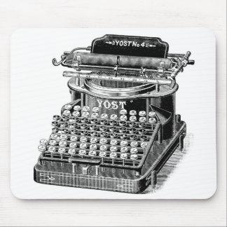 Vintage Schreibmaschine Yost Nr. 4, Mousepad
