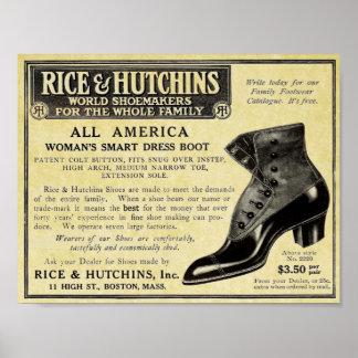 Vintage Schuh-Anzeige-viktorianische Replik Poster