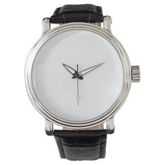 Vintage schwarze der lederne Bügel-Uhr eWatch Armbanduhr