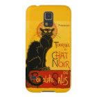 Vintage schwarze Katzen-Kunst Nouveau Le Chat Noir Samsung Galaxy S5 Cover