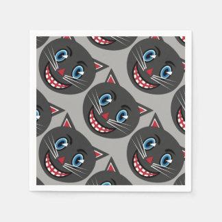 Vintage schwarze Katzen-Servietten Papierservietten