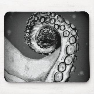 Vintage schwarze u. weiße Seekraken-Tentakel Mousepad