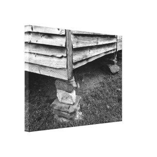 Vintage Schwarzweiss-Struktur Leinwanddruck