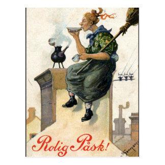 Vintage Schwede-Ostern-Malereikarte Postkarte