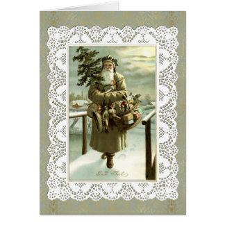 Vintage Schwede-Weihnachtsmann-Postkarten-Kunst u. Grußkarte