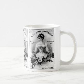 Vintage schwedische Korsett-Anzeige Kaffeetasse