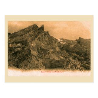 Vintage Schweizer Alpen, Gemmi Hotel und Postkarte