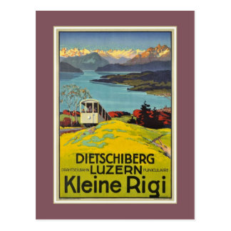 Vintage Schweizer Werbung Alpen-Luzernes Rigi Postkarte