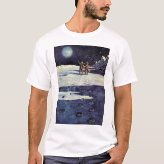 Vintage Science Fiction-Astronauten-Außerirdische T-Shirt