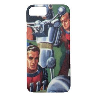 Vintage Science Fiction-Astronauten, die einen iPhone 7 Hülle