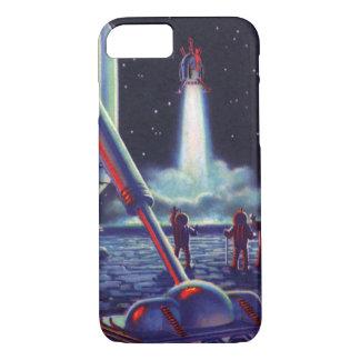 Vintage Science Fiction-Außerirdische-Welle zu iPhone 8/7 Hülle