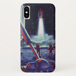 Vintage Science Fiction-Außerirdische-Welle zu iPhone X Hülle