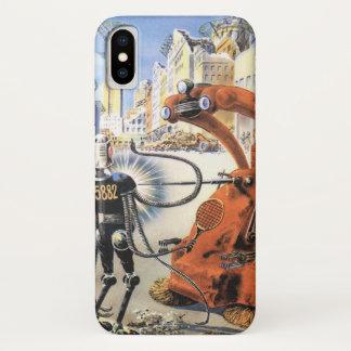 Vintage Science Fiction-futuristische iPhone X Hülle