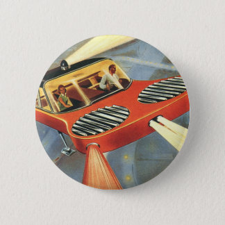 Vintage Science Fiction-futuristisches Runder Button 5,7 Cm