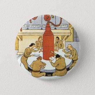 Vintage Science Fiction, Laborwissenschaftler Runder Button 5,1 Cm