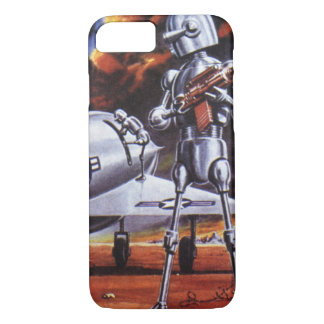 Vintage Science Fiction-Militärroboter-Soldaten iPhone 8/7 Hülle