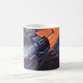 Vintage Science Fiction, Mond Rocket, das weg Kaffeetasse