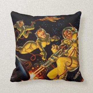 Vintage Science Fiction-Raum-Weg-Astronauten Kissen