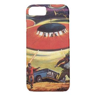 Vintage Science Fiction, Sci FI UFO-alien-Invasion iPhone 8/7 Hülle