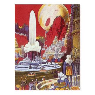 Vintage Science Fiction verlorene Stadt von