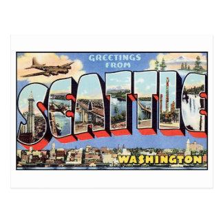 Vintage Seattle-Postkarte