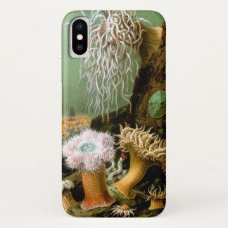 Vintage Seeanemonen, Marinelebens-Tiere iPhone X Hülle
