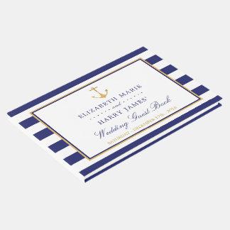 Vintage Seegoldanker-Hochzeit Gästebuch