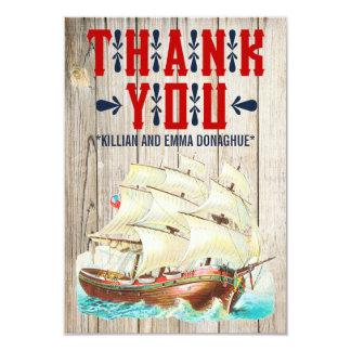 Vintage Seehochzeit danken Ihnen Karten 8,9 X 12,7 Cm Einladungskarte