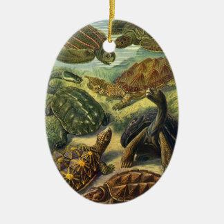 Vintage Seeschildkröte-Land-Schildkröte durch Keramik Ornament
