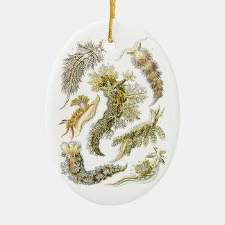 Vintage Seeschnecken und -schnecken durch Ernst Keramik Ornament