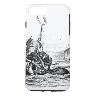 Vintage Seesteampunk Krake kraken das Zeichnen iPhone 8 Plus/7 Plus Hülle