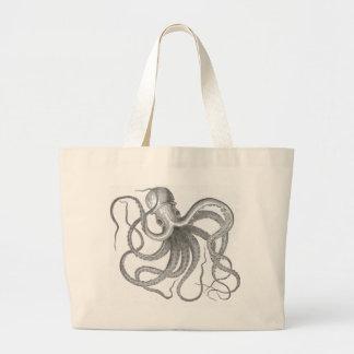 Vintage Seesteampunk Krake kraken das Zeichnen Jumbo Stoffbeutel