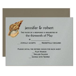 Vintage Seetier-Strand-Hochzeits-Wartekarte 8,9 X 12,7 Cm Einladungskarte