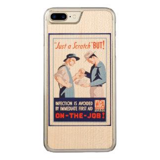 Vintage Sicherheit auf dem Job-Erste ERSTE HILFE Carved iPhone 8 Plus/7 Plus Hülle