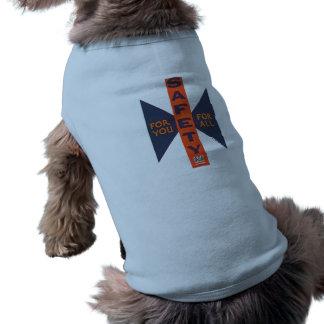 Vintage Sicherheit für Sie Ärmelfreies Hunde-Shirt