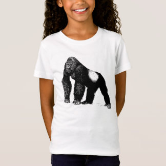 Vintage Silverback-Gorilla-Illustration, schwarz T-Shirt