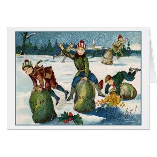Vintage Silvesterkarte Grußkarte