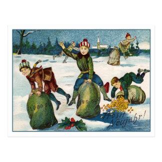 Vintage Silvesterkarte Postkarte