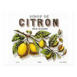 Vintage Sirop de Citron Ad Postkarte