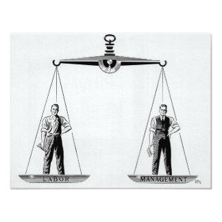 Vintage Skalen von Gerechtigkeit; Arbeits- und Einladung