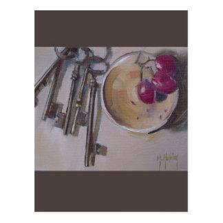 Vintage Skeleton Schlüssel Postkarten