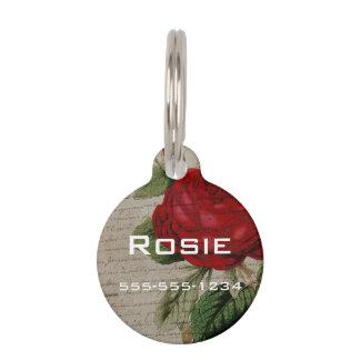 Vintage Skript-Rose Tiermarke Mit Namen