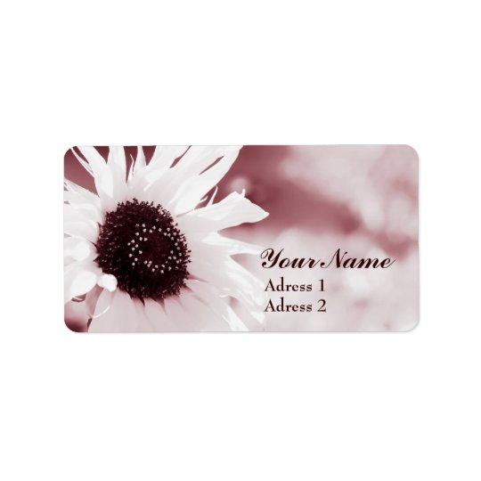 Vintage Sonnenblume - Adressen-Etikett Adressaufkleber