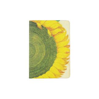 Vintage Sonnenblume Passhülle